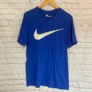 Nike blue casual shirt tee size M